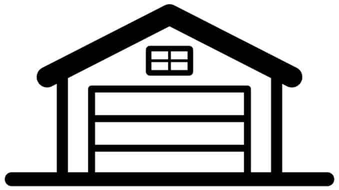 Garage für Auto und Dachbox