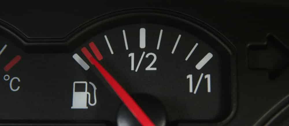 Leerer Kraftstofftank
